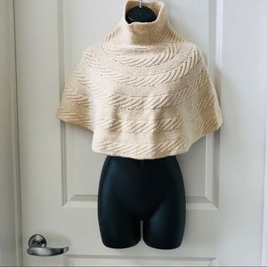 Kenneth Cole Cable Knit Mock Neck Shawl